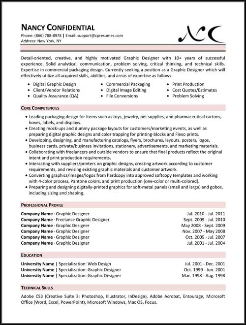 resume samples types of formats examples templates different functional graphic design Resume Different Resume Examples