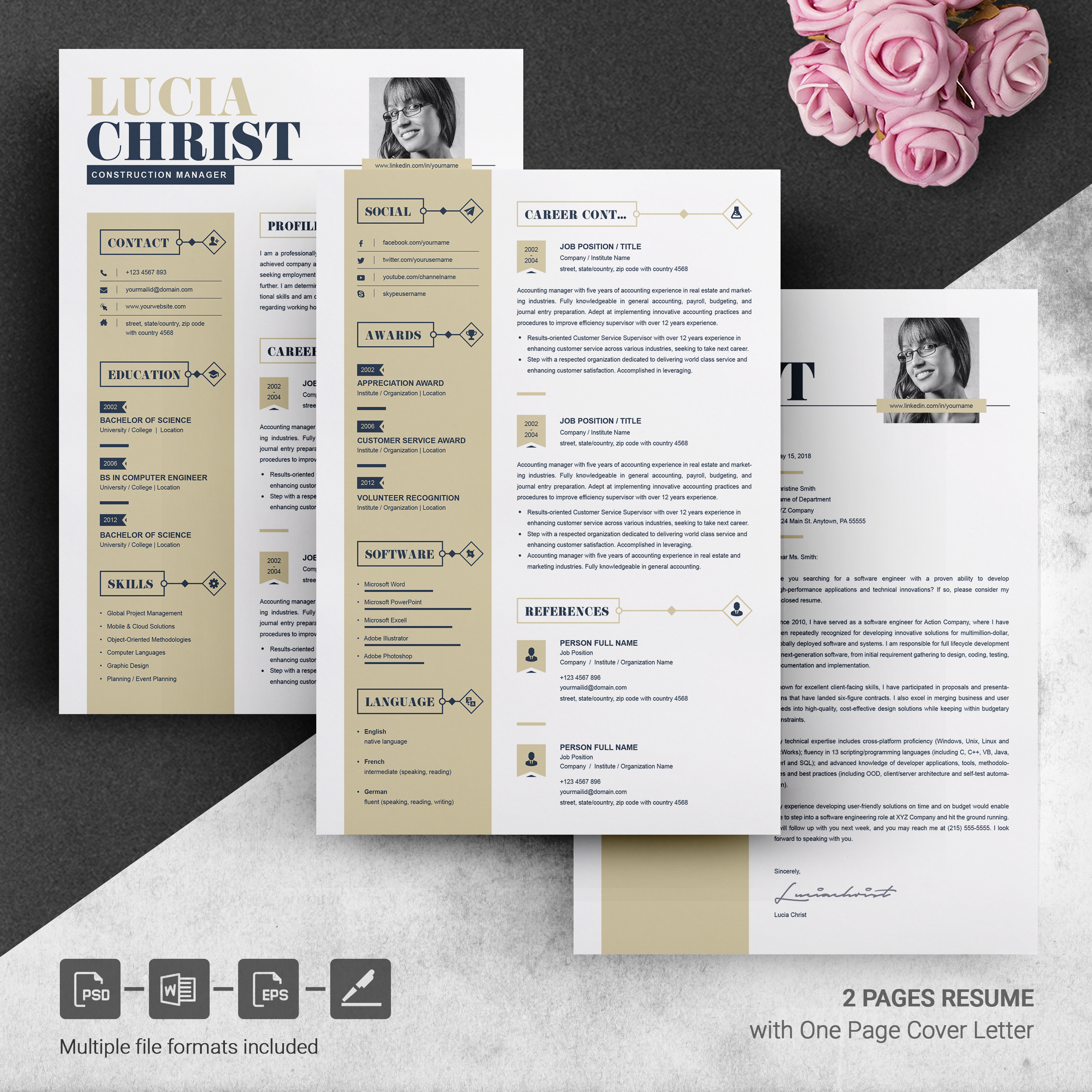 resume template word free resumes templates pixelify net two design template3 livre Resume Two Page Resume Template Word