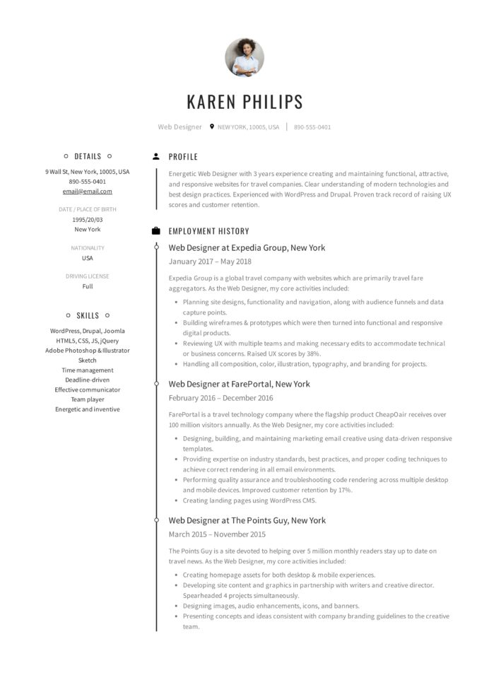resume templates pdf word free downloads and guides make new karen philips web designer Resume Make A New Resume