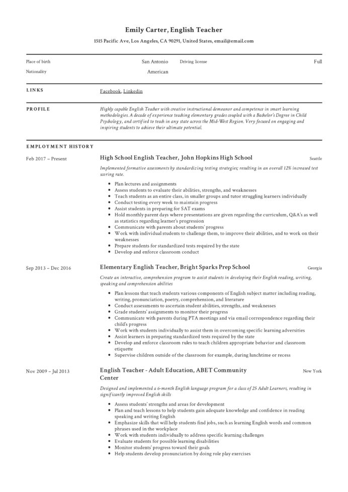 resume templates pdf word free downloads and guides the perfect template professional Resume The Perfect Resume Template