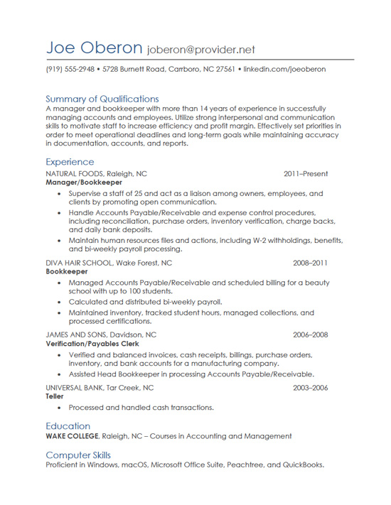 resume writing gallery of sample resumes strong communication skills bookkeeping examples Resume Strong Communication Skills Resume