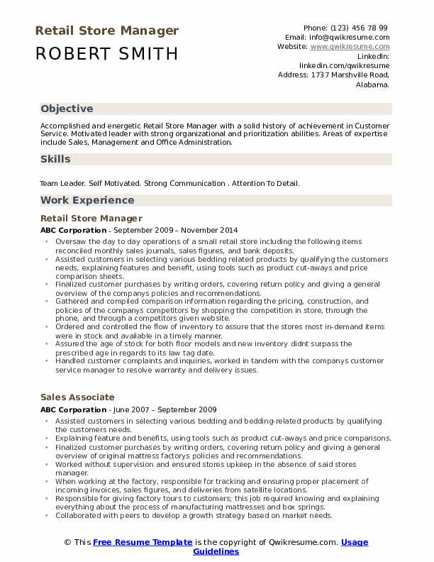 retail store manager resume samples qwikresume responsibilities for pdf otis elevator Resume Retail Manager Responsibilities For Resume