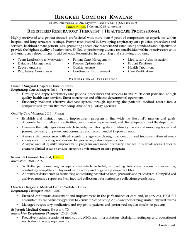 rt versus quality healthcare resume improvement administration tax office manager Resume Healthcare Quality Improvement Resume