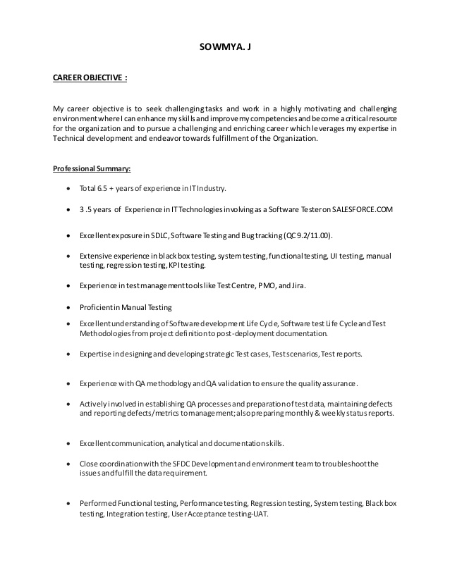 salesforce testing resume qa tester with years experience building supplier diversity Resume Qa Tester Resume With 5 Years Experience