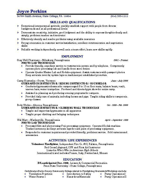 sample college student resume examples best recent graduate first time nanny commercial Resume Recent Graduate Resume 2020