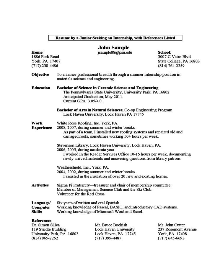 sample resume first year student free template college piping supervisor word format Resume First Year College Student Resume
