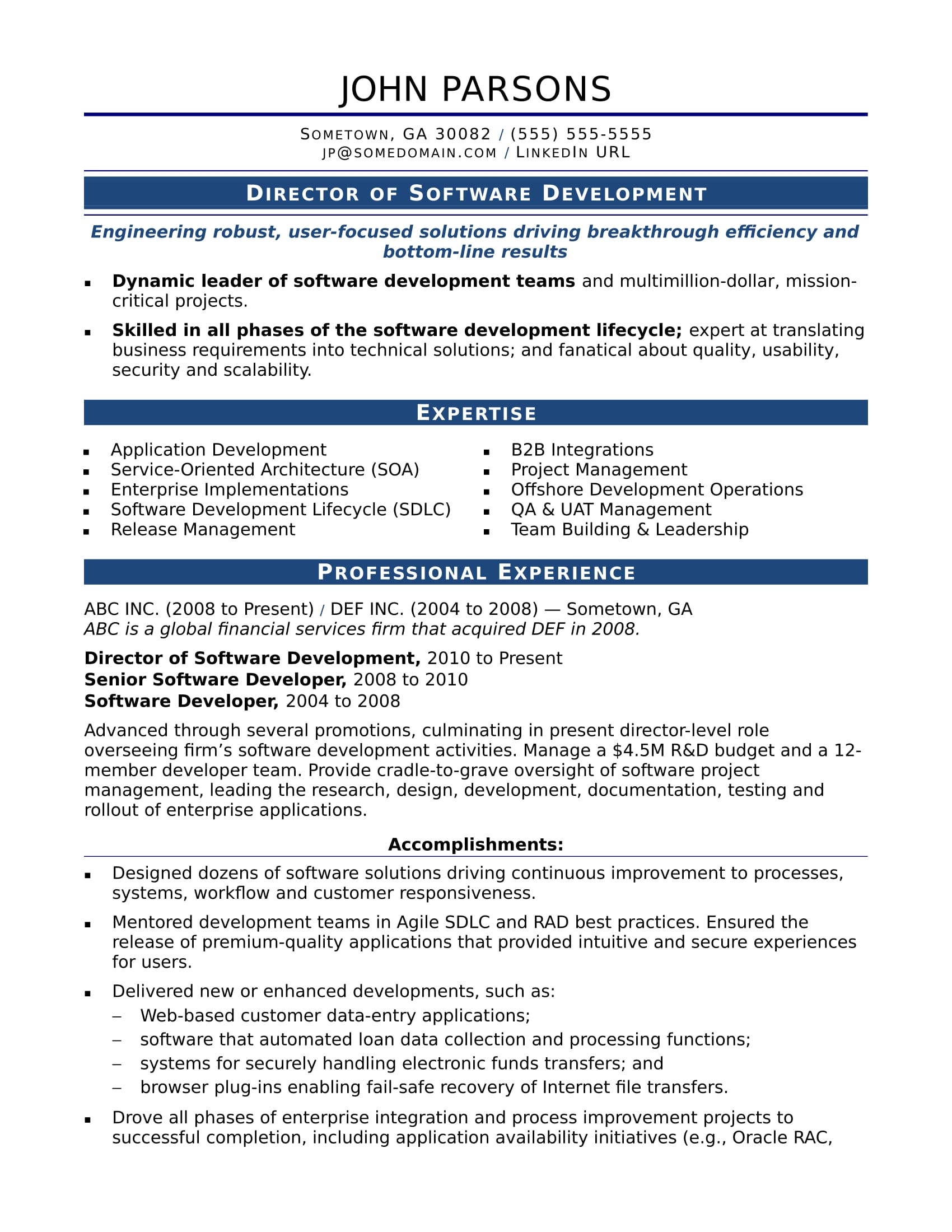 sample resume for an experienced it developer monster best professional software home Resume Best Professional Resume Software