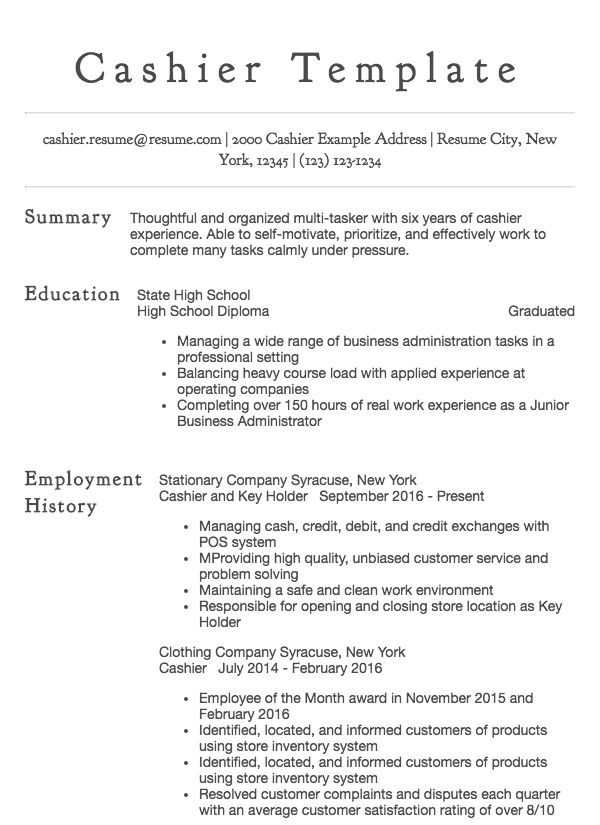 sample resume for cashier with experience senior technical writer personal summary retail Resume Resume Summary For Cashier