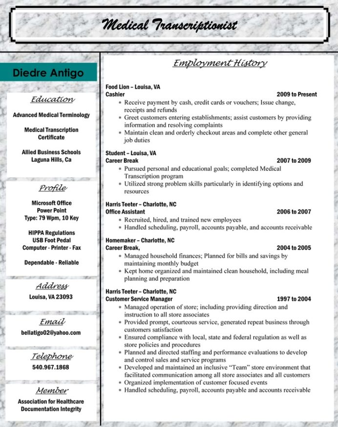 sample resume for medical billing and coding latex advance company optimal login Resume Billing And Coding Resume