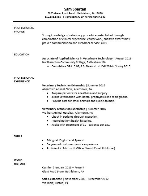 sample resume vet tech examples medical assistant cover letter for veterinary photography Resume Veterinary Assistant Resume