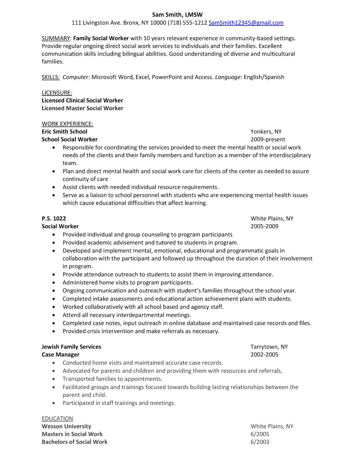 sample youth specialist resume cprc child and worker skills hospital social outline Resume Child And Youth Worker Skills Resume