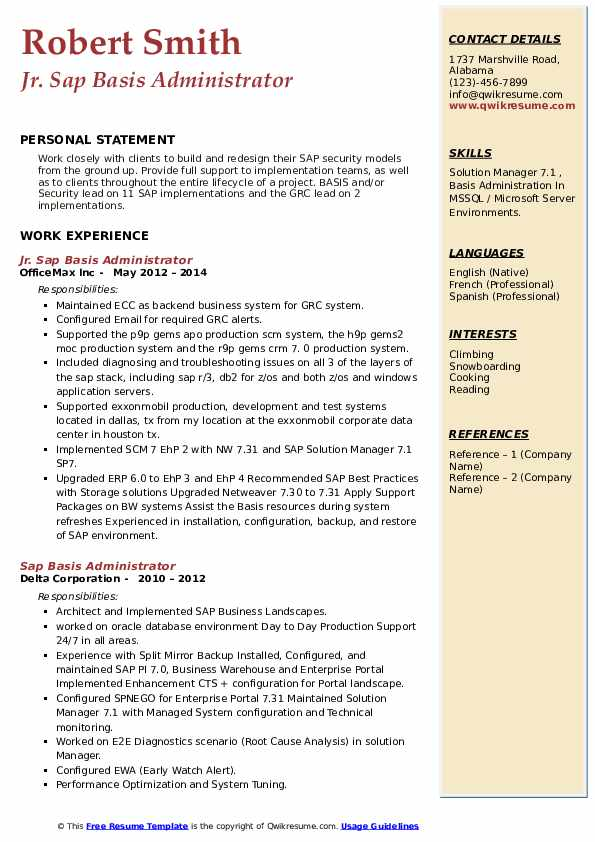 sap basis administrator resume samples qwikresume sample pdf dorothy direct care Resume Sap Basis Administrator Resume Sample