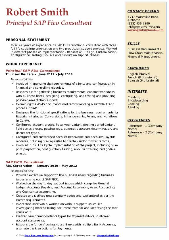sap fico consultant resume samples qwikresume years experience pdf pca lawyer template Resume Sap Fico Consultant Resume 3 Years Experience