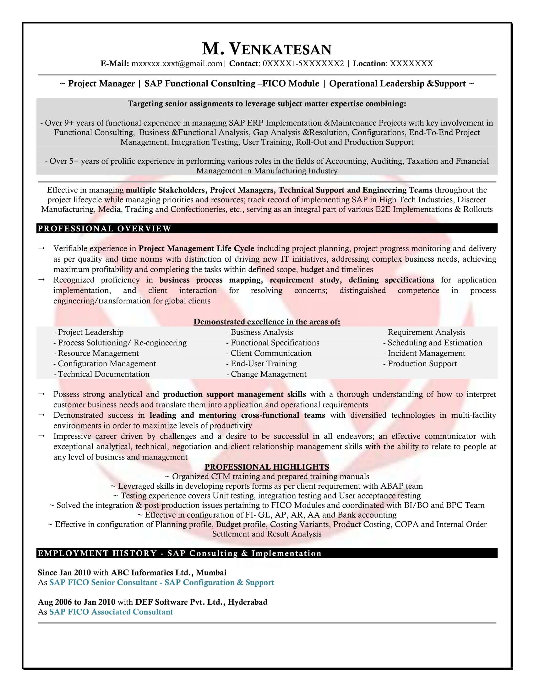 sap fico sample resumes resume format templates consultant years experience assisted Resume Sap Fico Consultant Resume 3 Years Experience
