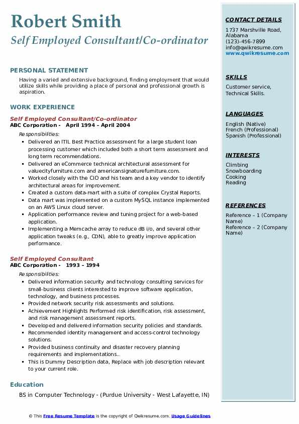 self employed consultant resume samples qwikresume for people pdf acquisition program Resume Resume For Self Employed People