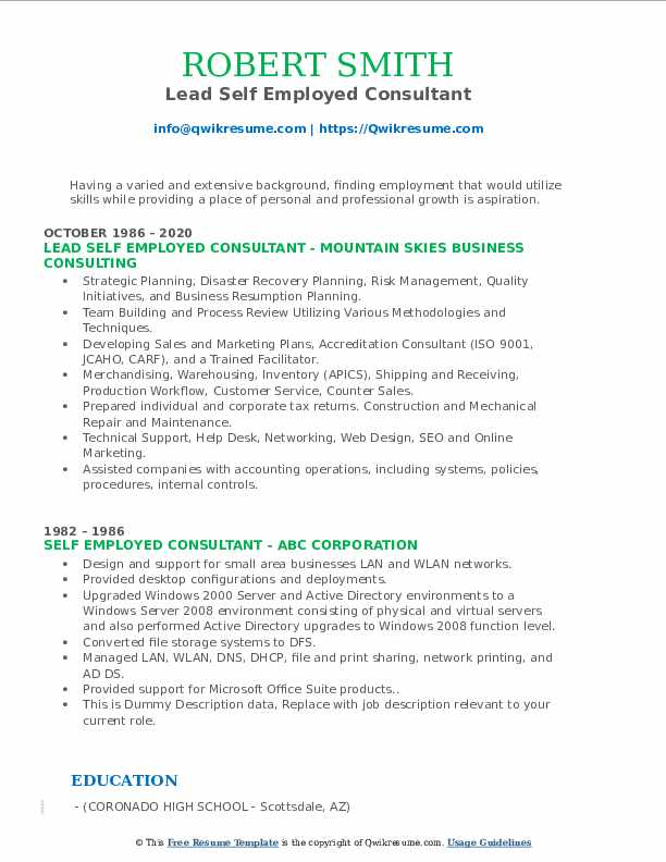 self employed consultant resume samples qwikresume for people pdf salesforce Resume Resume For Self Employed People