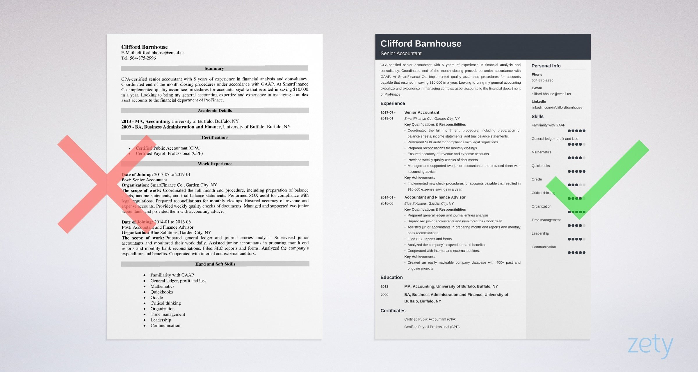 senior accountant resume sample guide tips oracle project accounting example for govt job Resume Oracle Project Accounting Resume