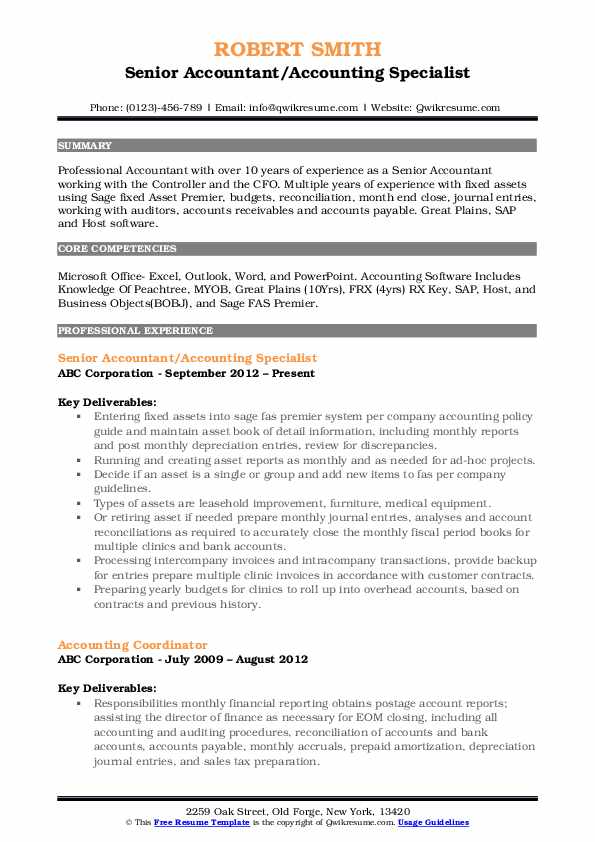 senior accountant resume samples qwikresume objective examples pdf sample for credit risk Resume Senior Accountant Resume Objective Examples