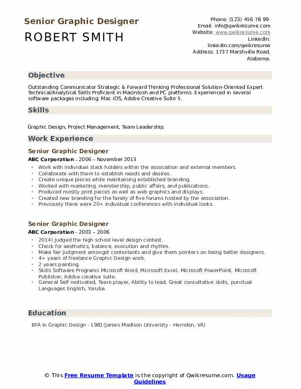 senior graphic designer resume samples qwikresume sample pdf credit underwriter Resume Senior Graphic Designer Resume Sample