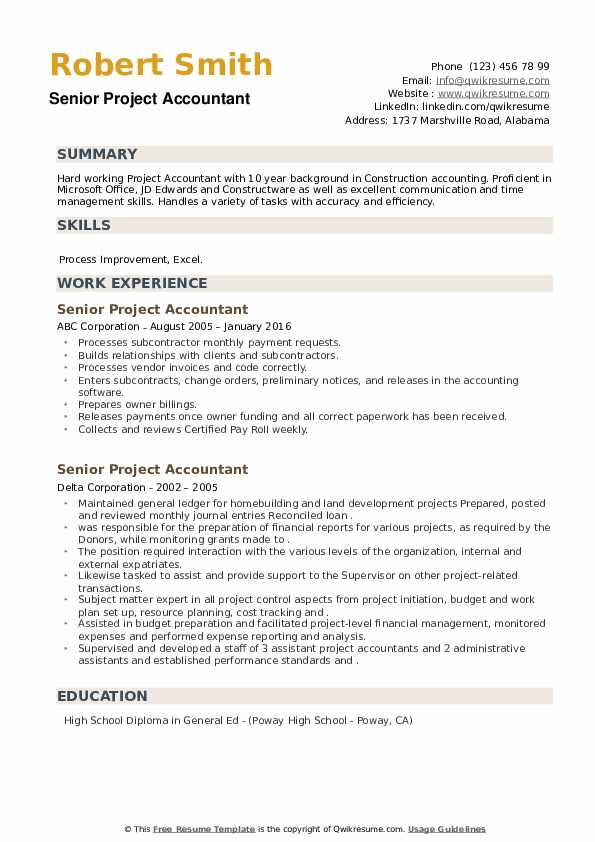 senior project accountant resume samples qwikresume oracle accounting pdf must haves Resume Oracle Project Accounting Resume