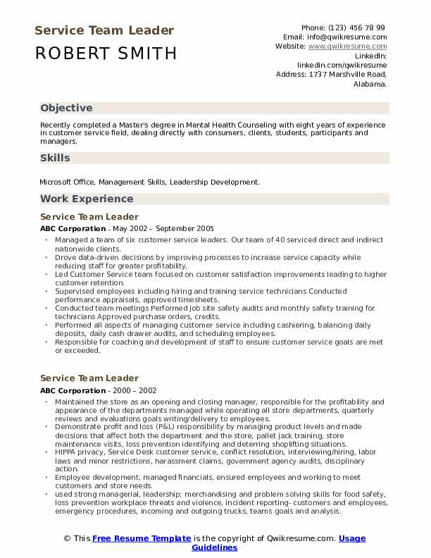 service team leader resume samples qwikresume pdf customer skills good words for best ats Resume Team Leader Resume Samples