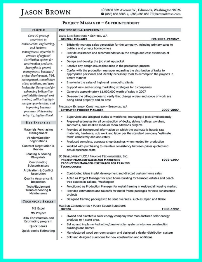 simple construction superintendent resume example to get applied project manager examples Resume Construction Superintendent Resume Sample