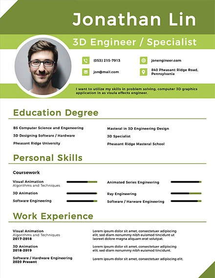 simple fresher resume templates for animator engineering student sample admin assistant Resume Resume For Animator Fresher