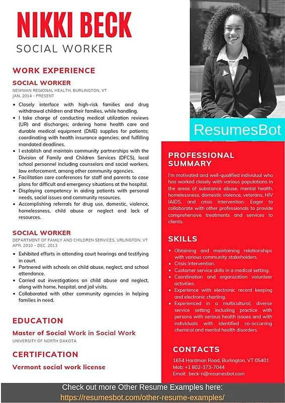 social worker resume samples and tips pdf examples resumes bot work example quick builder Resume Social Work Resume Examples