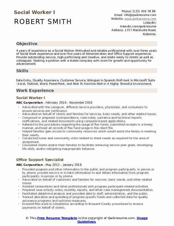 social worker resume samples qwikresume work examples pdf quick builder entry level Resume Social Work Resume Examples