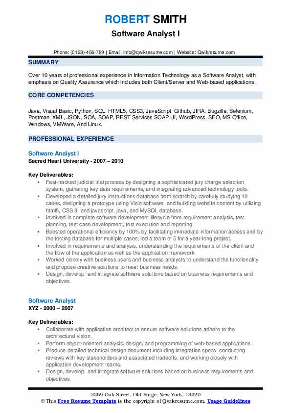 software analyst resume samples qwikresume specs application pdf construction company Resume Specs Resume Application