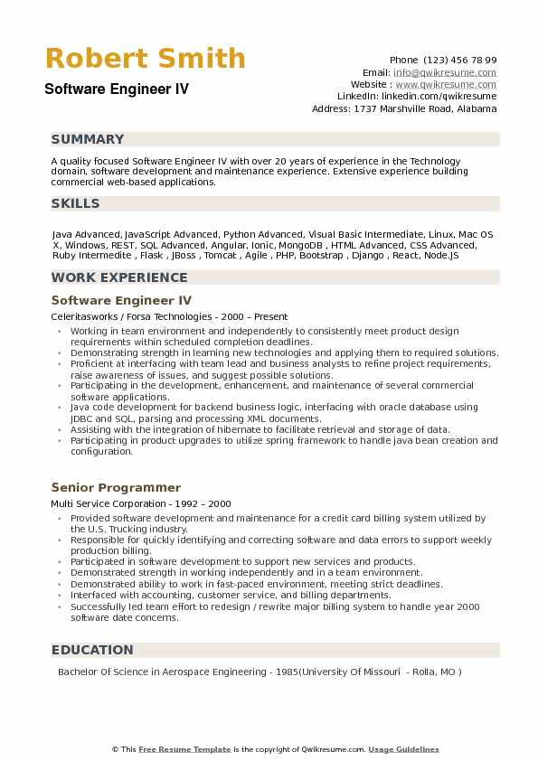 software engineer resume samples qwikresume example of pdf first aid sample microsoft Resume Example Of Software Engineer Resume