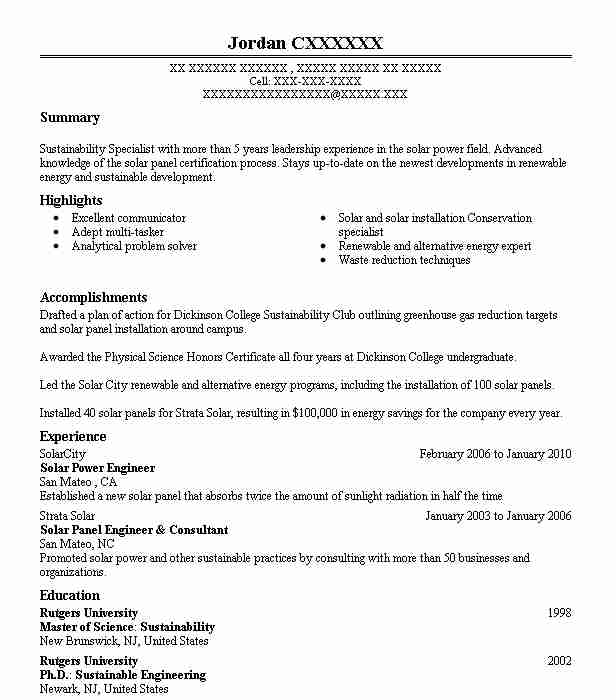 solar engineer resume example engineering resumes livecareer of gas station manager Resume Resume Of Solar Engineer