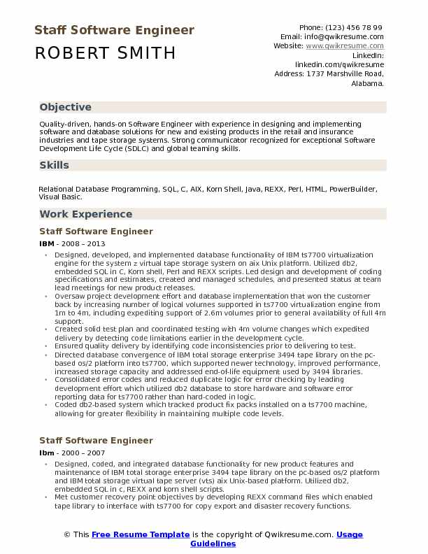 staff software engineer resume samples qwikresume engineering templates pdf sophomore Resume Software Engineering Resume Templates