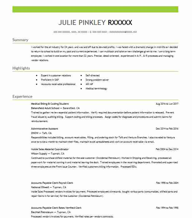student medical billing and coding specialist resume example metro business college Resume Billing And Coding Resume