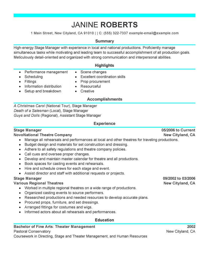supervisor resume example resumes livecareer summary for management position media Resume Resume Summary For Management Position