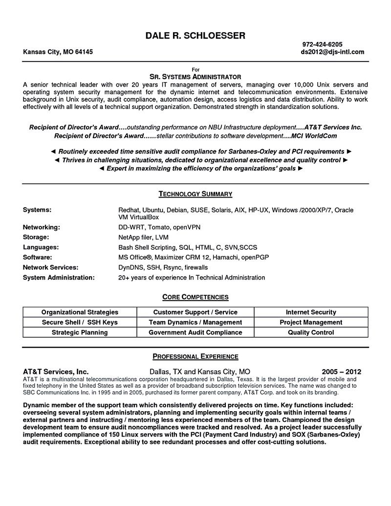 system administrator resume sample and tips free template word samples linux new model Resume Linux Administrator Resume