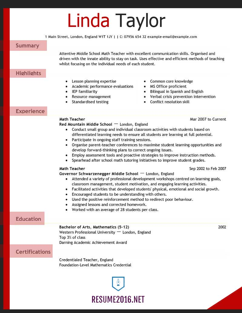 teacher resume examples for elementary school templates example pace university career Resume Elementary Resume Templates