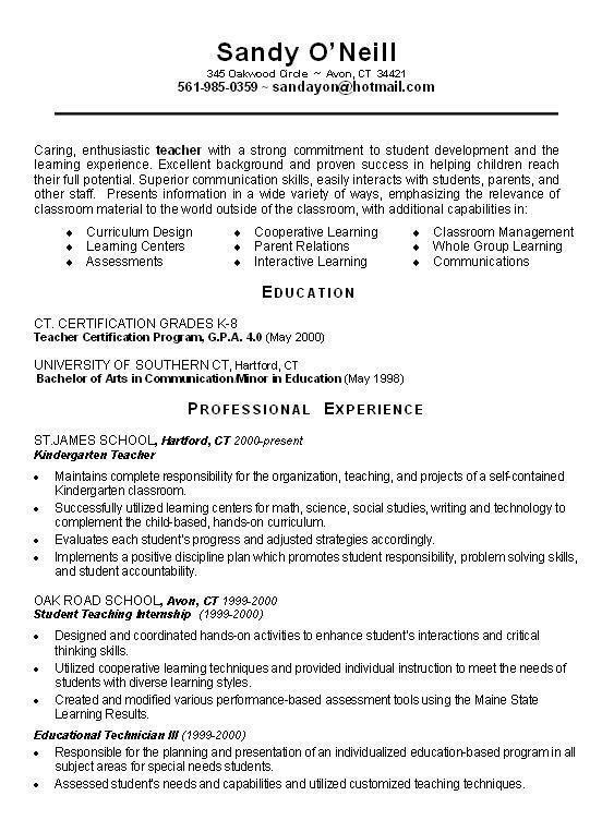 teachers resume objective with education certification teacher in bachelor of professio Resume Social Science Teacher Resume