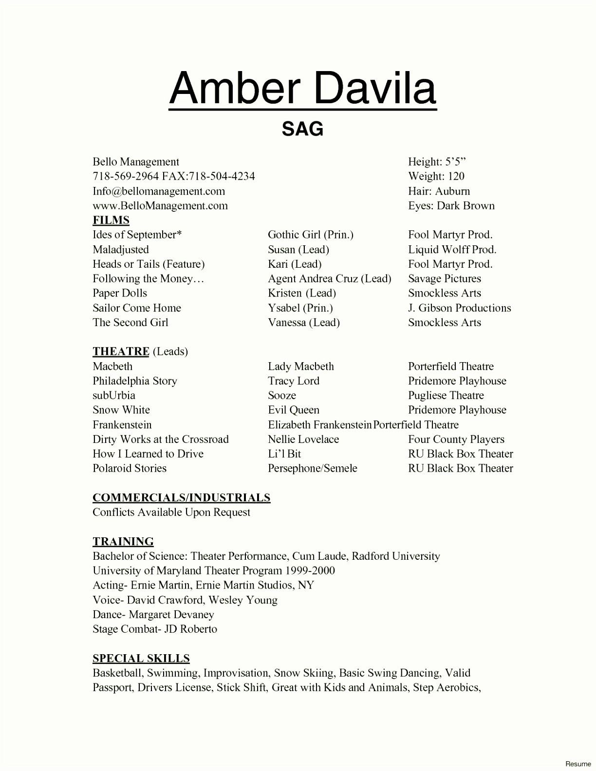 tech theatre resume template beautiful polaroid sampletemplatez acting technical most Resume Technical Theatre Resume Template