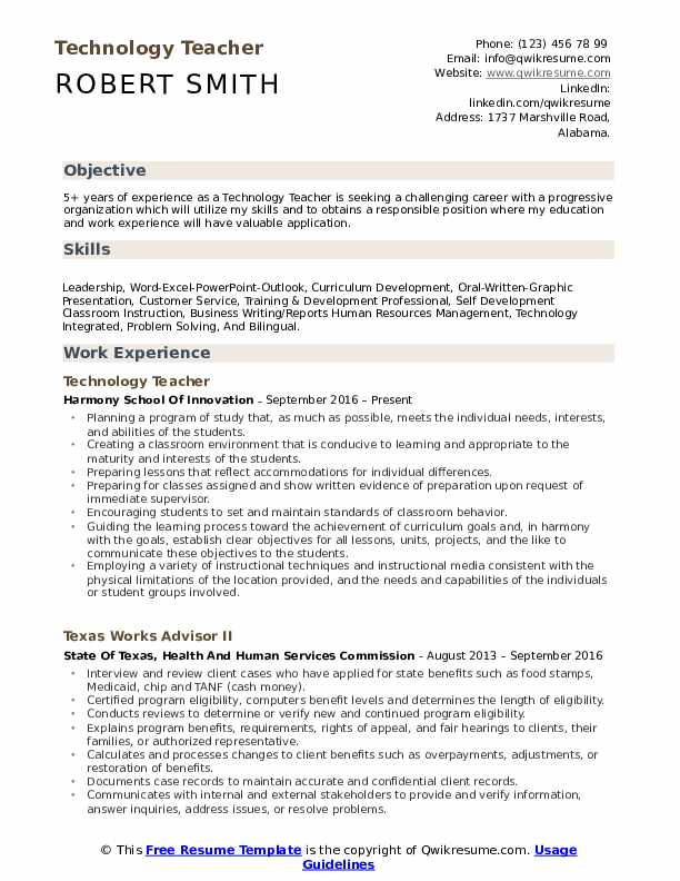 technology teacher resume samples qwikresume professional pdf job simple template empty Resume Professional Teacher Resume
