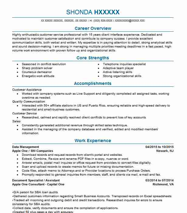 test data management lead resume example cognizant technology solutions east middle Resume Test Data Management Resume