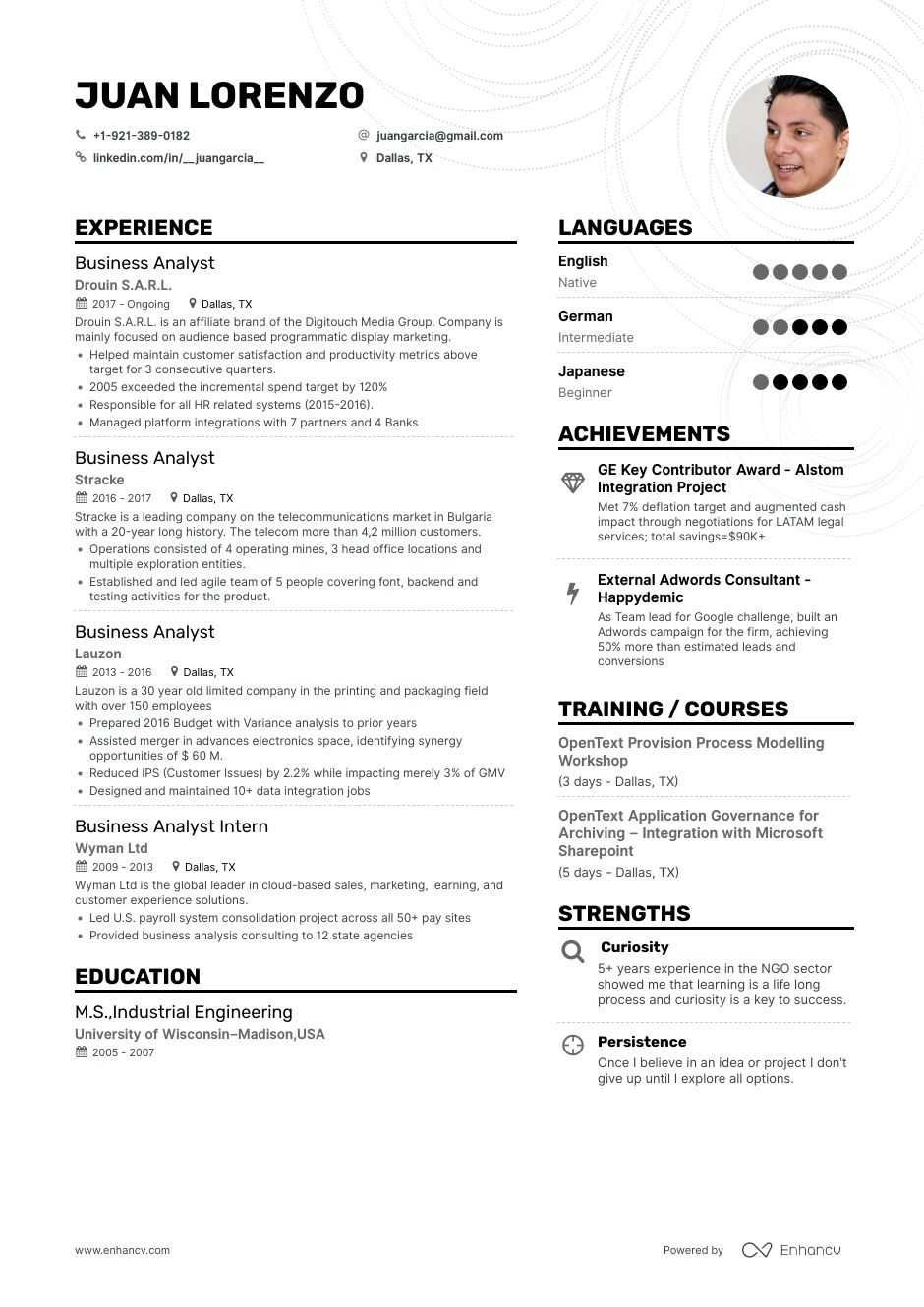 the best business analyst resume examples skills to get you hired mysql replication Resume Business Analyst Resume 2020