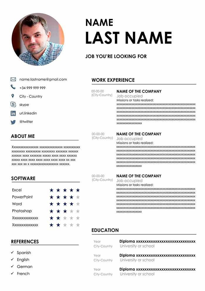 the best cv format free template for word resume templates hospitality industry Resume Best Cv Resume Templates