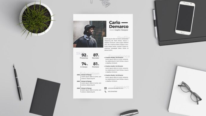 the best free resume templates creative bloq graphic design template Resume Free Graphic Design Resume Template