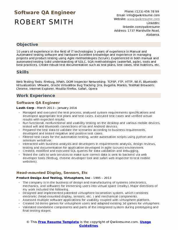 the best software engineer cv examples and templates example of resume qa care Resume Example Of Software Engineer Resume