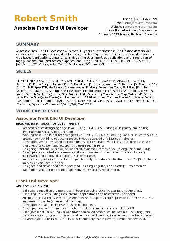 the best software engineer cv examples and templates resume front end ui developer Resume Software Engineer Resume Examples