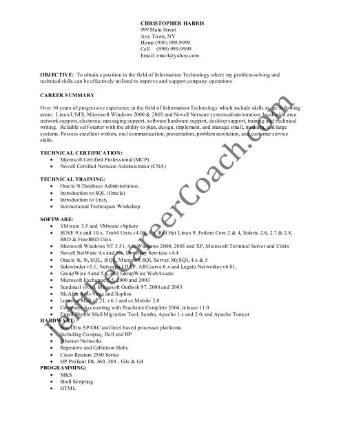 the linux administrator resume sample one in pdf new model for freshers apa style cover Resume Linux Administrator Resume