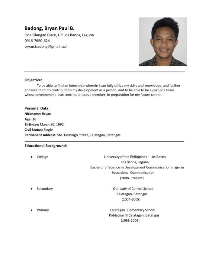 the most example of resume format template sample basic examples and diversity manager Resume Resume Format And Examples