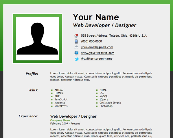 to create an html5 microdata powered resume do get final sample objective for first job Resume Where Do I Get A Resume