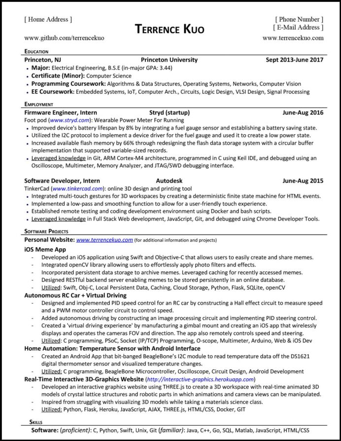 to write killer software engineering résumé skills and achievements for resume tk Resume Skills And Achievements For Resume